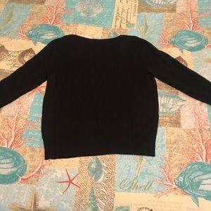 Cato Sweaters - Cato Black V-Neck Sweater w/ 3/4 Sleeves Size M
